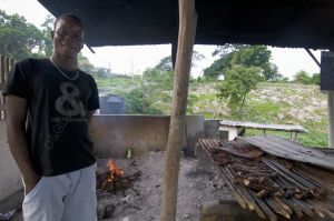 Original jerk cooking - Boston Bay, Portland, Jamaica