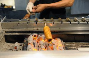 Spicy grilled corn at the Shilin night market  - Taipei, Taiwan