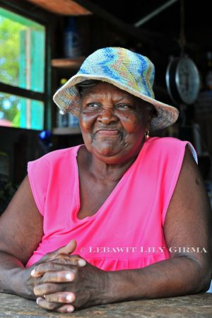 Ms. Yacinta, shopkeeper in Barranco, a Garifuna village in southern Belize