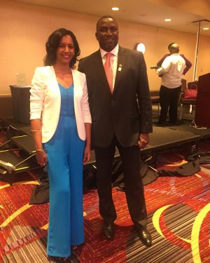 With the Honorable Donaldson Romeo, Premier of Montserrat