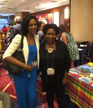 With the lovely Muriel Wiltord, Director of the Americas for Martinique Promotion Bureau