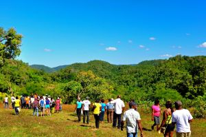 11. The hilly interior of Accompong Town.