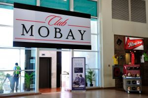Club Mobay is next to Gate 9