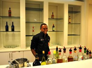 Shaune, ready to serve you in Lounge One.