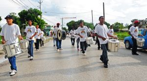 Marching bands are big in Belize and there is even an annual national competition.