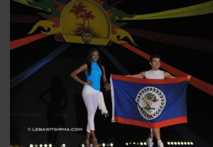 Miss Belize, at last night's Flag Dance opening of the Festival