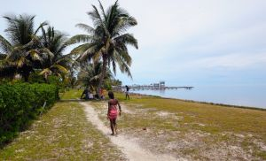 Very few actually live on St. George's Caye