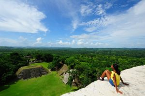 Reflecting from the top of Xunantunich in Cayo