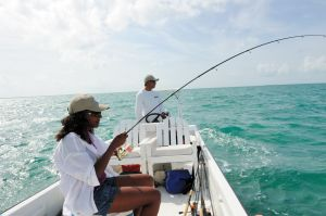 Fishing with Anglers Abroad and voted Best Fishing Guide in Belize, Ken Coc - in Caye Caulker