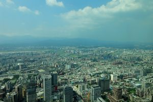 View of Taipei, capital city of Taiwan from Taipei 101, the second tallest building in the world | Copyright L. Girma
