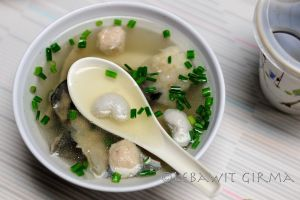 Fish stomach in milk fish soup - a traditional breakfast dish (yes, breakfast - more on this later)