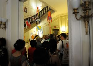 Crowded hallways at the Embassy of Haiti - Passport DC Day
