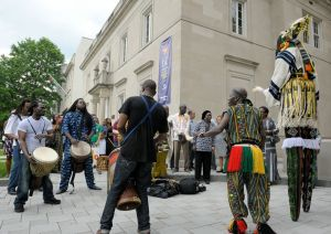 Junkanoo and drummers outside the Embassy of Cote d'Ivoire | (c) Lebawit Lily Girma