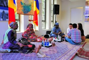 Chad had traditional tea ceremonies for those with time to sit and chat - Passport DC